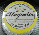 MAGNOLIA Soap | Women's Glycerin Shave Soap | Body Bar | Shampoo Puck - Humphrey's Handmade