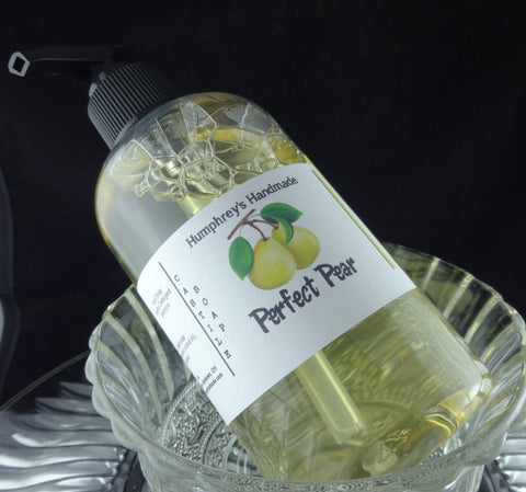 PERFECT PEAR Body Wash | 8 oz | Ripe Pear | Castile Soap | Shampoo - Humphrey's Handmade