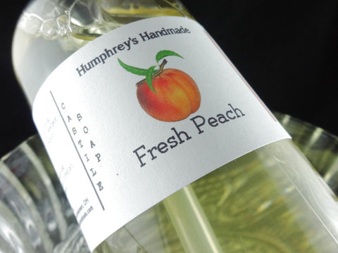 FRESH PEACH Body Wash | 8 oz | Women's Peach Scented Castile Soap - Humphrey's Handmade