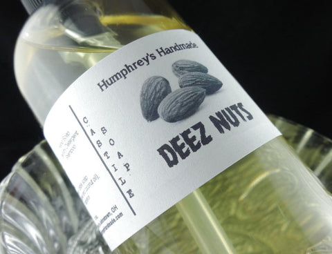 DEEZ NUTS Body Wash | 8 oz | Honey Almond Scent | Shower Gel | Unisex Castile Soap - Humphrey's Handmade