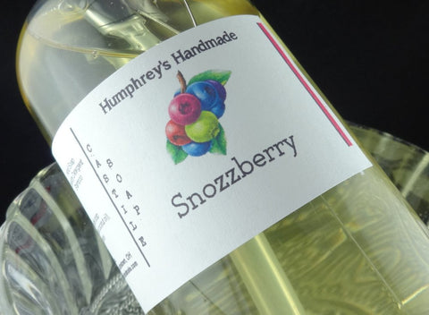 SNOZZBERRY Body Wash | 8 oz | Women's Mixed Berry Scented Castile Soap - Humphrey's Handmade