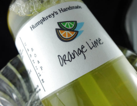 ORANGE LIME Body Wash | 8 oz | Women's Citrus Scented Castile Soap | Essential Oil - Humphrey's Handmade