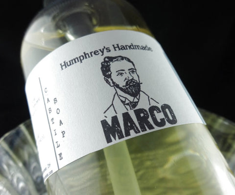 MARCO Men's Beard Wash & Body Wash | 8 oz | Polo Sport Type | Castile Soap - Humphrey's Handmade