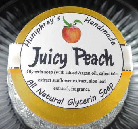 JUICY PEACH Soap | Women's Shave Soap | Fresh Georgia Peaches - Humphrey's Handmade