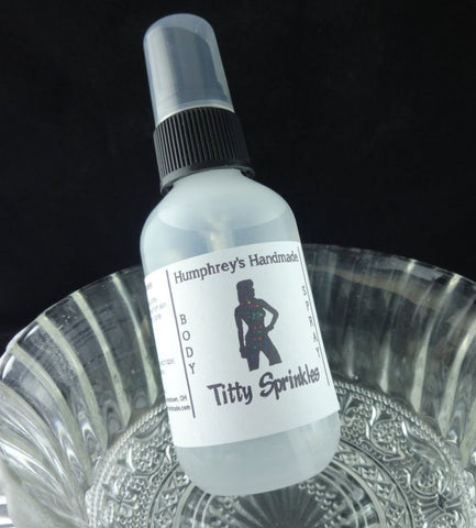 TITTY SPRINKLES Body Spray | Birthday Cake Perfume | 2 oz - Humphrey's Handmade