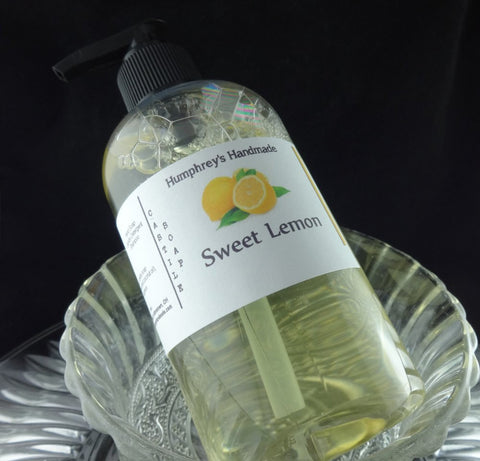 SWEET LEMON Body Wash | 8 oz | Women's Lemon Scented Castile Soap - Humphrey's Handmade
