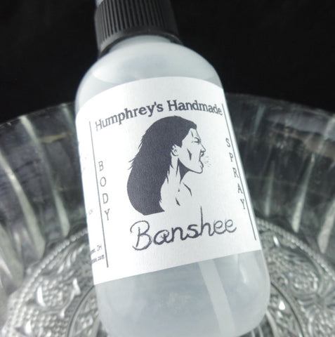 BANSHEE Women's Body Spray | Redwood Saffron Exotic Scent - Humphrey's Handmade