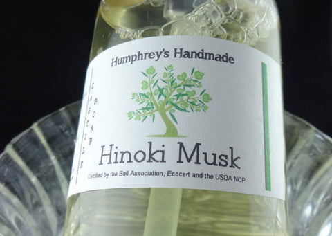HINOKI MUSK Body Wash | 8 oz | Women's Japanese Hinoki Wood | Liquid Castile Soap - Humphrey's Handmade