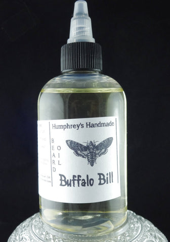 BUFFALO BILL Beard Oil | 4 oz | Leather Scent - Humphrey's Handmade