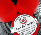 KILLER CLOWN Soap | Cotton Candy Scent | Glycerin Shave & Shampoo Soap - Humphrey's Handmade