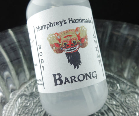 BARONG Body Spray | Indonesian Teakwood Scent | Room Spray - Humphrey's Handmade