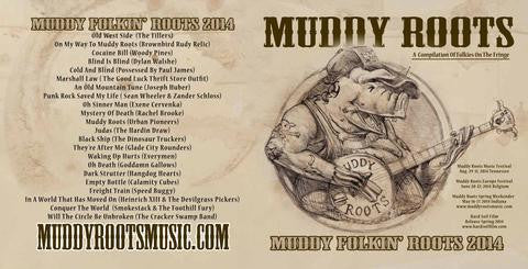 Muddy Folkin' Roots CD (Muddy Roots Music Recordings) compilation 2014
