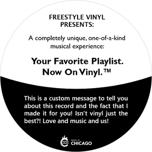 custom vinyl record personalized mixtape