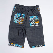 Dark Denim Kids Shorts Kipepeo - MadeInRW