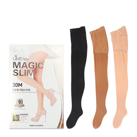 SET of 3 Salua 400M Terry Press Hip-Up Slimming Stocking