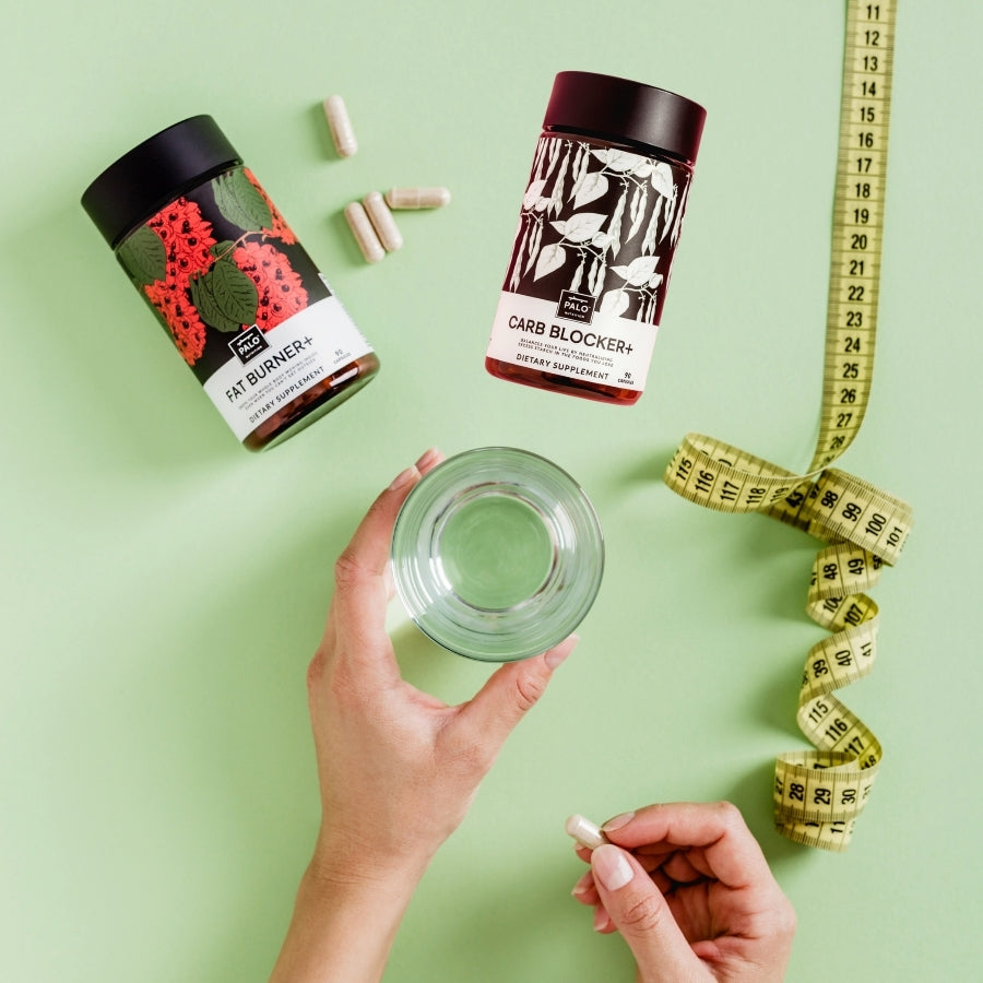 Fire up your metabolism and control cravings with the power of plant medicine and ease fatigue, low energy, brain fog and anxiety Fat Burner and Carb Blocker by PALO
