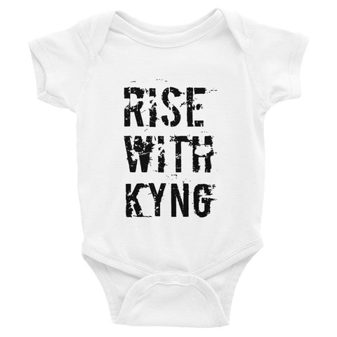 Infant short sleeve Rise with KYNG one-piece
