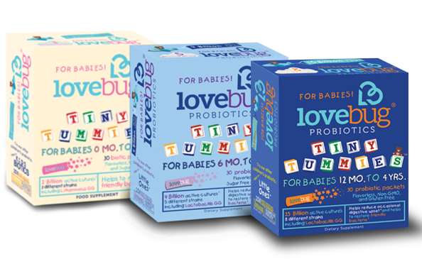 From newborn to infant to toddler, Lovebug Probiotics helps your child get the best start.