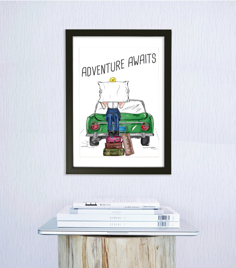 woven ink travel art print