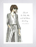 woven ink fashion illustration art print chanel