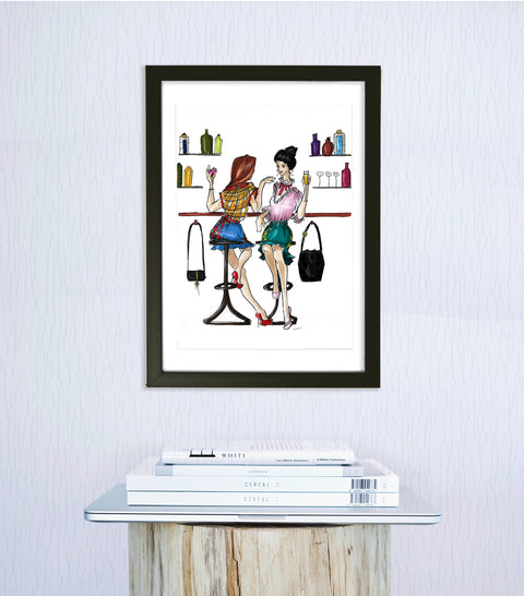 Cocktail Ladies Art Print