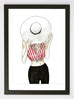 woven ink framed fashion art print