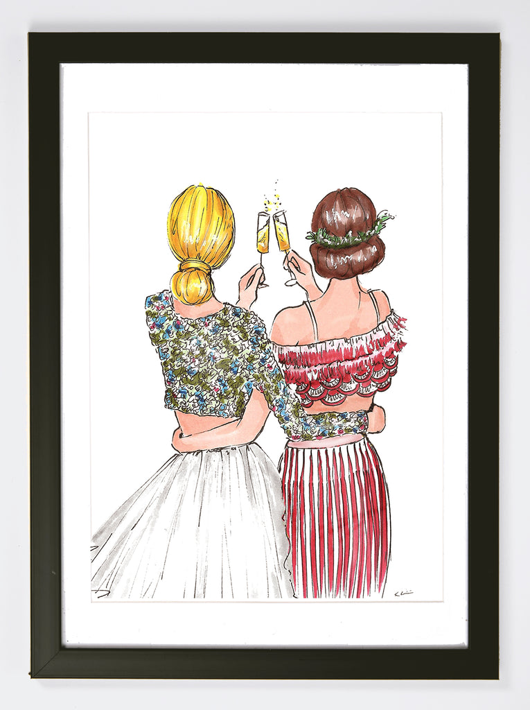 Holiday Cheers Art Print