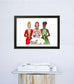 Wishing you Peace and Good Hair Holiday Art Print