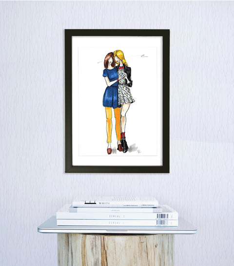 Lady Love Art Print