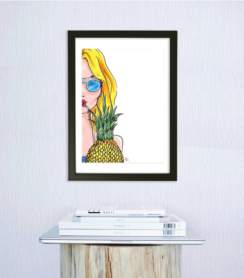 woven ink fashion art print