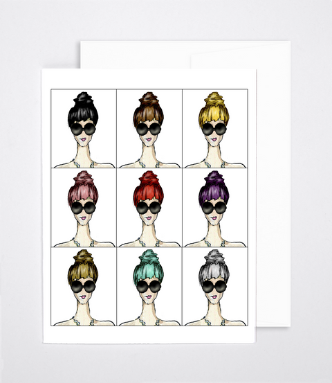 woven ink blank fashion greeting card