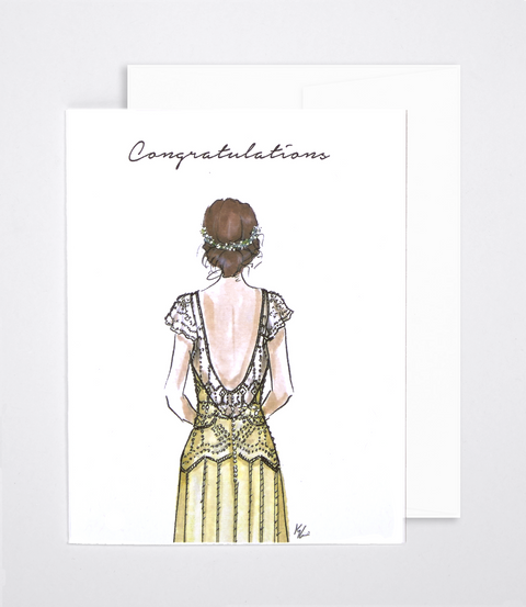 woven ink fashion wedding card