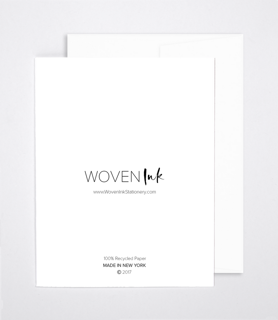 Just Because Greeting Cards And Art Prints Woven Ink Stationery