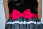 Holiday Dress with Red Bow