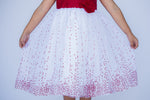 Red & White Holiday Sparkle Dress