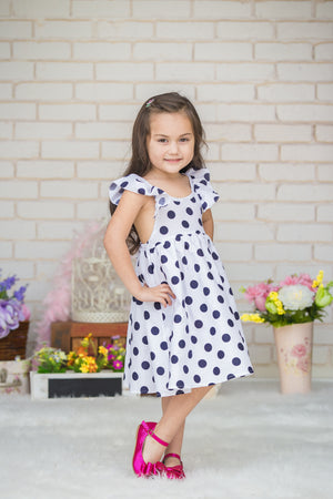 White Polka Dot Girl & Me Dress