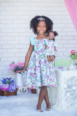 Floral Dress - Dolly & Me