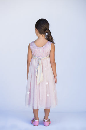Pink Sparkly Star Dress