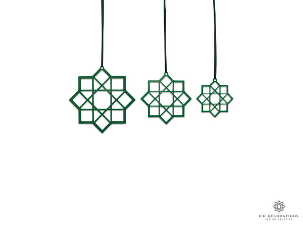 ALHAMBRA set of 3, light green