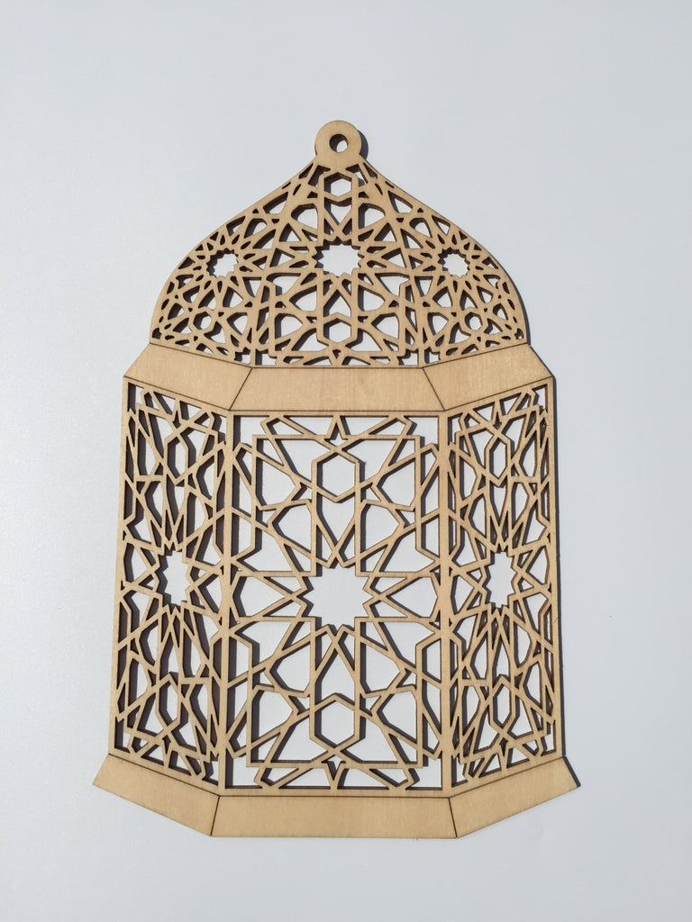 Damascus wood lantern