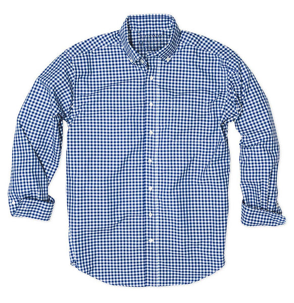 Performance Gingham Shirt - Wicking, Quick Dry, UPF and Super Soft Hand