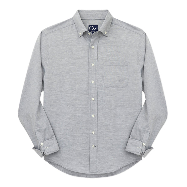Oyster Chambray Shirt - Heather Grey Long Sleeve