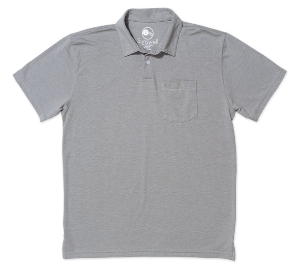 Poly Pima Polo - Squall Grey