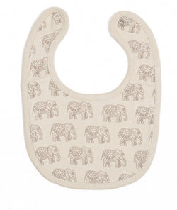 Reversible Bib- Elephant Print (One Size)