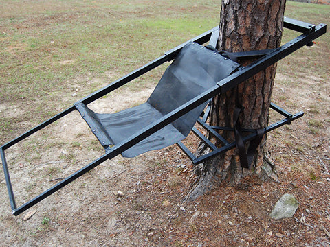 side view of tree lounger without accessories
