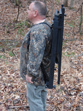 Side view of Bow Hunting Adapter attached to Tree Lounger for carrying