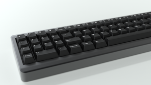 Candybar keycaps in black licorice.