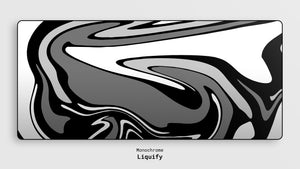 Liquify deskmat from Monochrome series.