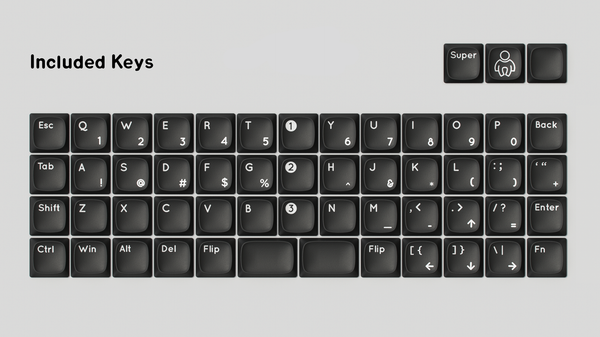 Bamboo keyboard key layout
