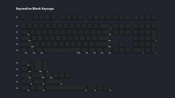 Keyreative keycaps diagram of keys